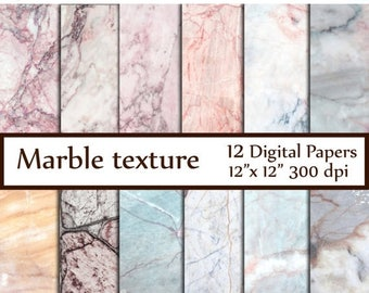 "40%SALE Marble Digital Paper: ""MARBLE TEXTURE Paper"" Marble Stone Texture Granite Texture decoupage papers photography backdrop marbled pape"