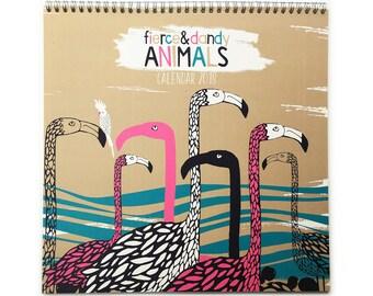 2018 Wall Calendar/Animals /Illustrated/Penguins/Love Birds/Polar Bears/Flamingos etc/30x30cm