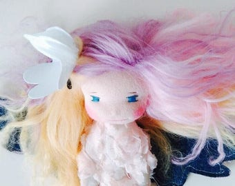 """Lilly - 8"""" Angel Doll Waldorf Inspired"""