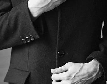 Black coat, black coat men, wool coat men, wool coat men, mens long coat, mens overcoat, fitted coat, wool overcoat, cashmere overcoat men.