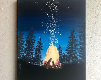 Bonfire Painting