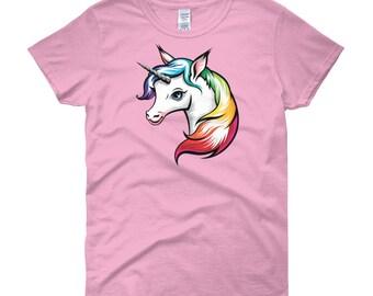 Rainbow Unicorn Women's T-Shirt