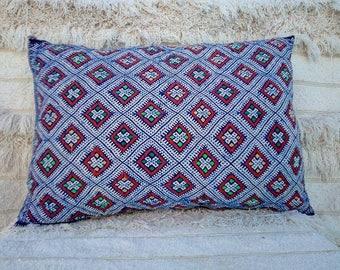 Decorative vintage Berber pillow, tribal pillow, handmade