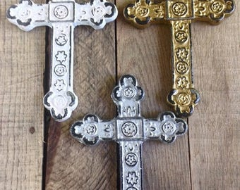 ON SALE Set of 3 Decorative Crosses - Wall Cross - Christian Home Decor - Cross Decor - Religious Wall Art - Gallery Wall Decor - Religious