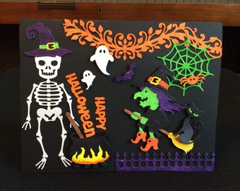 Halloween Birthday Card, 3D, Hearfelt Creations, Cheery Lynn Designs, memoryboxco, JustRite Papercrafts,Handmade,DebbieD3dDesigns,Halloween