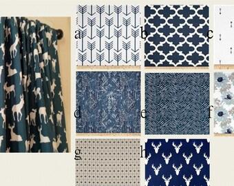 Blue Indigo Navy Curtain Panels Window Curtain Panels  Modern  Window Treament Pairs Lined