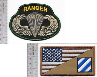 Ranger US Army 3rd Infantry Division & Airborne Parachutist Wings