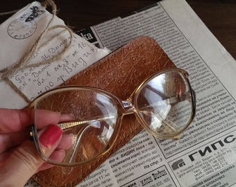 Vintage Eyeglasses, Diopter Glasses, Retro Lady Spectacles from 1980s, Gift Idea