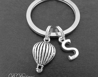 Hot Air Balloon Keyring, Hot Air Balloon KeyChain, Travel Key Chain, Flying Keyring, Personalised Keychain, Hot Air Balloon Gifts, Travel