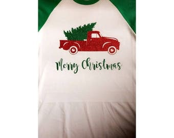 Christmas Truck Raglan