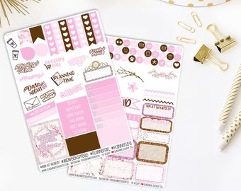 Cherry Blossom Weekly Vertical Planner Stickers Kit 831L