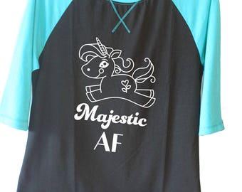 Majestic AF 3/4 length sleeve shirt