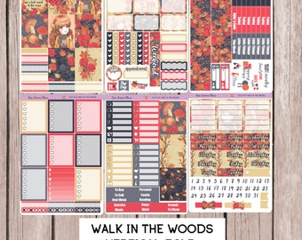 WALK In The  WOODS Planner Stickers | perfect for VERTICAL Erin Condren Life Planner | V11