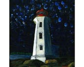 Peggy's Cove Print. Nova Scotia lighthouse, Art print, Home decor