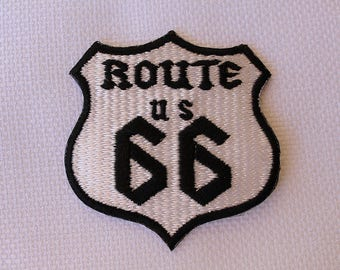 Route 66 ~ Patch  ~ Biker patch ~ Motorcycle Patch ~ Embroidered Iron on Patch