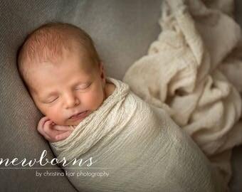 Newborn Cheesecloth Wrap, Newborn Photo Prop, Rustic Photo Prop, Baby Wrap, Newborn Photography