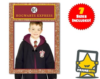 Platform 9 3/4 Photo Booth Frame (Digital File Only) Harry Potter Party Props Have | You Seen This Wizard