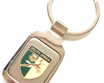 Personalised Spring Boks Enamel Crested Key Ring + Pouch (T705)