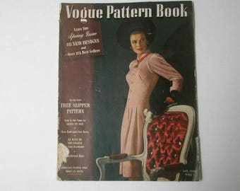 vogue pattern book 1942 fashion illustrations 80 pages war time clothes