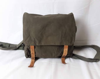 Vintage Canvas and Leather Daypack