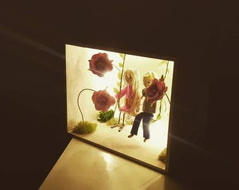 "Box window ""Recreation"". Night light"