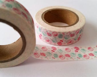 lollipop and gift box  Washi Tape