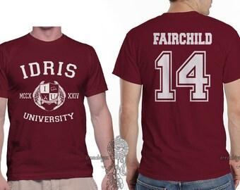 Fairchild 14 Idris University printed on MEN tee Maroon