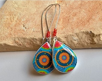 Statement Earrings Mexican Jewelry Folk Art Jewelry