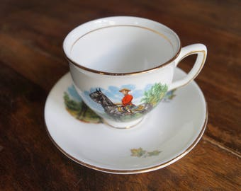 Duchess Bone China Teacup & Saucer, RCMP
