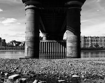 Putney Bridge, Putney Print, Bridge Photography, City Print, Architectural Print, Wall Art Bridge, Bridge Print, Bridge Architecture, Square