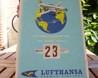 Perpetual calendar Lufthansa - Collector