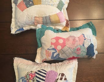 Tattered Quilted Pillow/ Quilted Newborn Posing Pillow