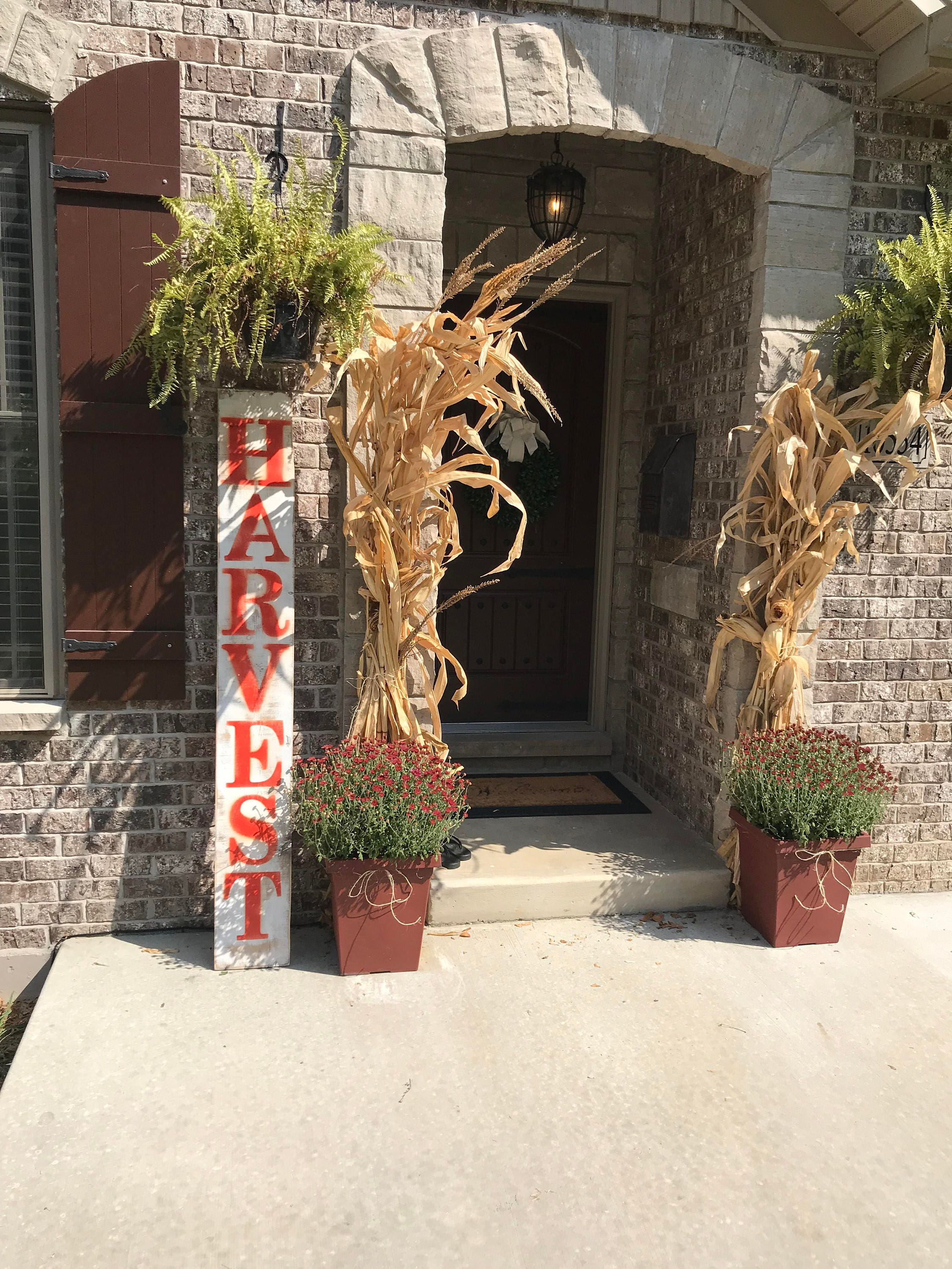 Harvest Sign On Barnwood For Fall Front Porch Decor: Porch Fall Sign Porch Harvest Sign Outdoor Fall Sign Porch