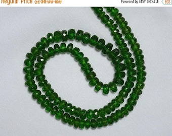 50% DISCOUNT 5mm - 9mm Green Tourmaline Rondelle Beads, Tourmaline Gem Stone, Faceted Rondelle, Gemstone for Jewelry, 17 Inches Strand