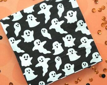 Halloween. Halloween Party. Halloween Napkins. Napkins. Halloween Decor. Party Decor. Ghost. Ghost Napkins