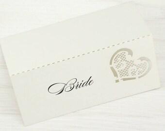 SAMPLE * Josephine Laser Cut Place Card. Wedding Range Laser Cut
