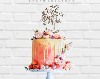 Cake Topper tree wedding