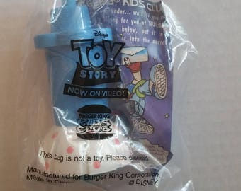 "TOY STORY Little Bo Peep 5"" Action Figure New In Bag Burger King 1996 Spinning Top Movie Memorabilia Collector Toy Disney Animation Classic"