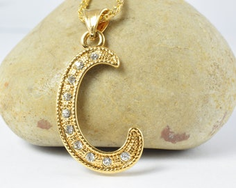 18KT 33mm Gold Filled Initials,Initial Gold Filled Initial Pendant Name,Valentine's Day Gift Initial Monogram,Special Initial Name