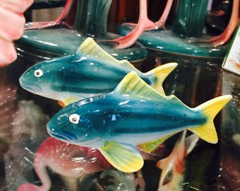 Tuna Fish Salt and Pepper Shakers made in Japan circa 1950s