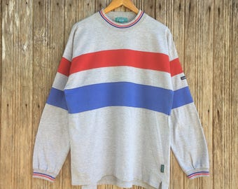Rare!! Vintage Leyton House Colourblock Style Sweatshirt Nice Design Medium size