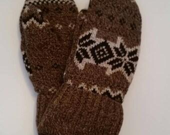 Hand made Mittens Sweater Mittens Wool Mittens Fleece Mittens Soft fleece CozyArcylicMittens