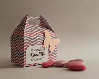 """Favor boxes favor boxes """"birth birthday christening baby shower confetti boxes, Boite a dragee baptism baby"""