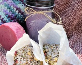 Spa Set, Spa Gift Set, Spa Gift, Lotion Mason Jars, Spa Kit, Soap Gift Sets, Mason Jar Bath Set, Bath Tea Salts, Mason Jar Gifts, Bath Tea