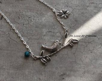 Necklace Bird on branch