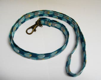 Keychain in original fabric necklace