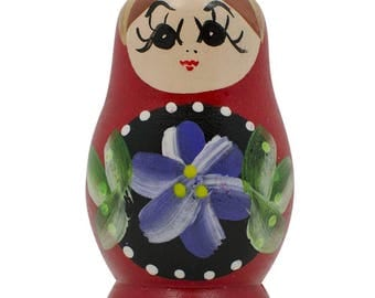 Red Wooden Russian Nesting Doll Fridge Magnet