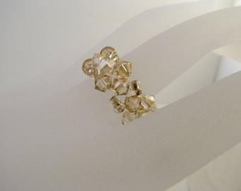 Swarovski crystal ring ring golden shadow