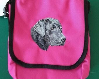 Embroidered Black Labrador Sholder Bag/Purse