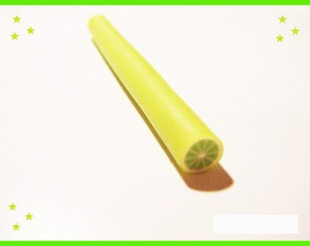 Cane fimo polymer clay - lime green ♥ ♥